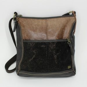 The Sak Metallic Leather Crossbody Purse